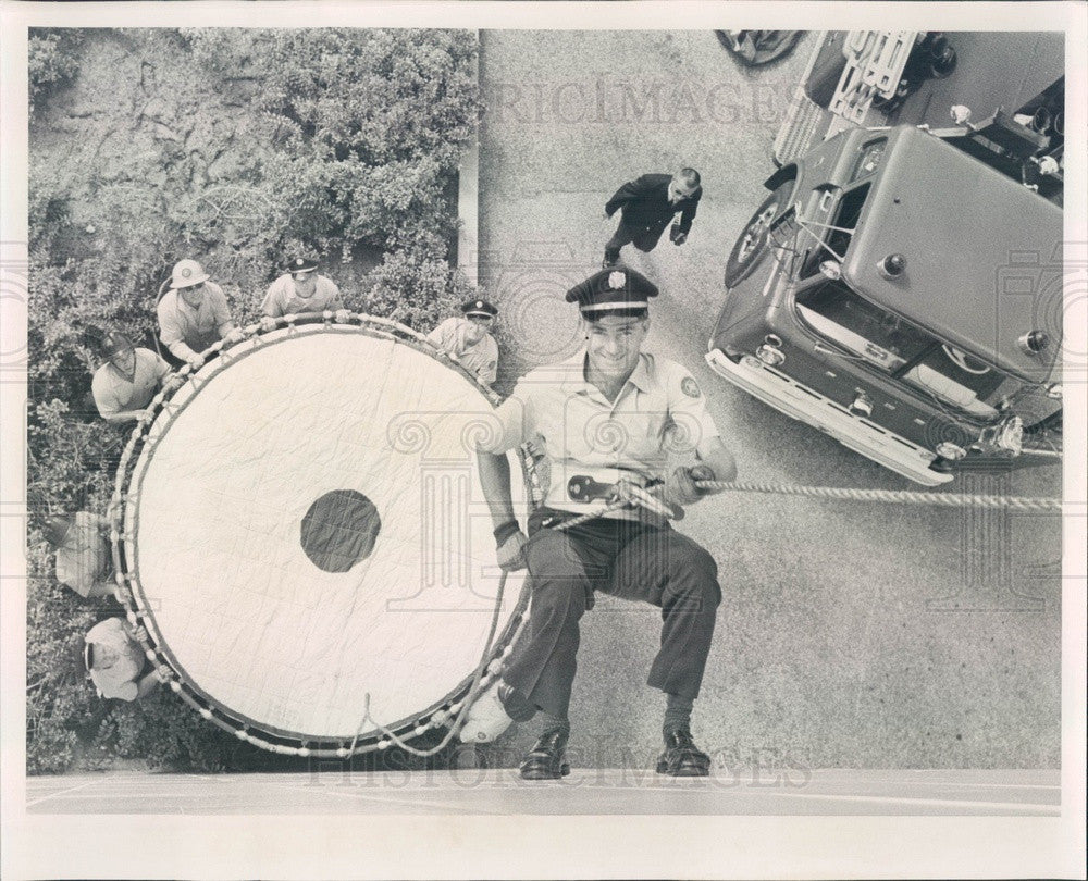 1963 St Petersburg, Florida Firefighters & Equipment Press Photo - Historic Images