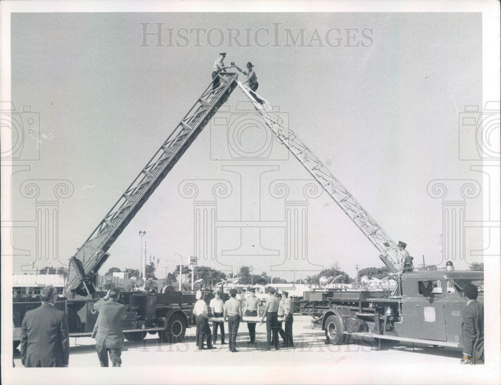 1969 St Petersburg, Florida Firefighters & Equipment Press Photo - Historic Images