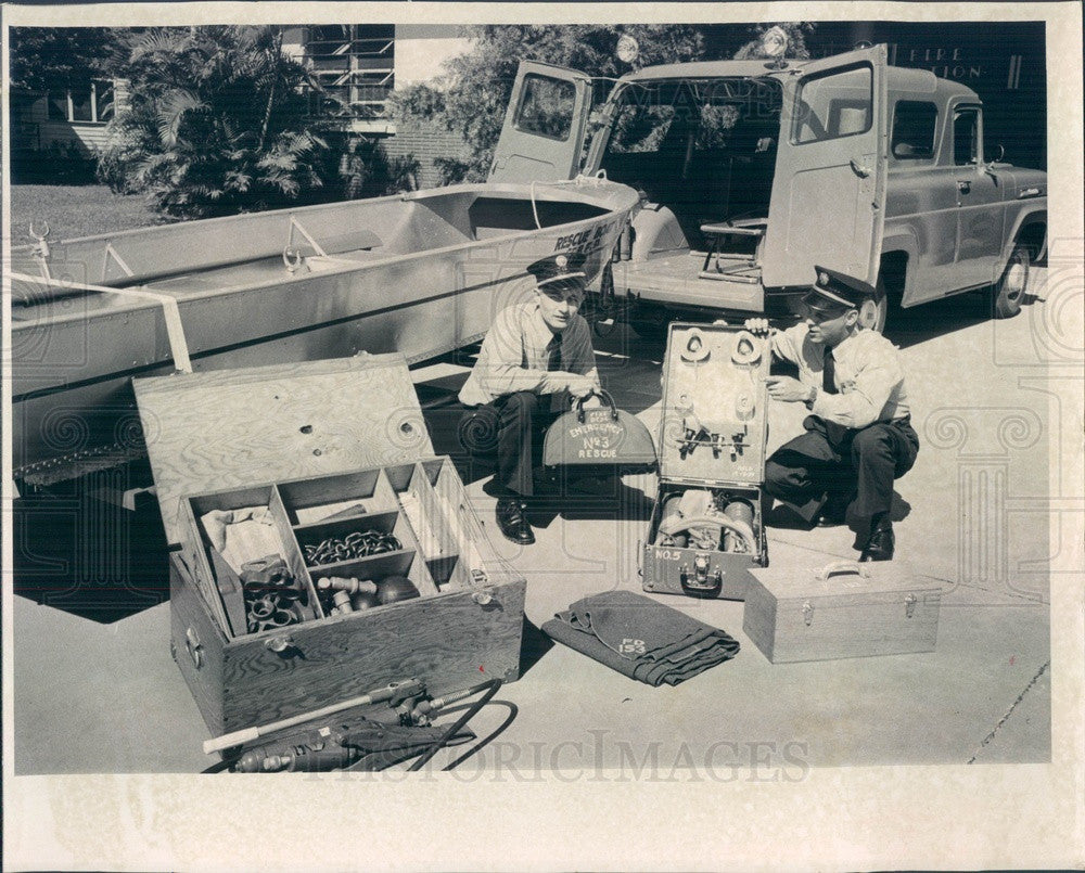 1960 St Petersburg, Florida Rescue Vehicle, Lt Paul Steckle Press Photo - Historic Images