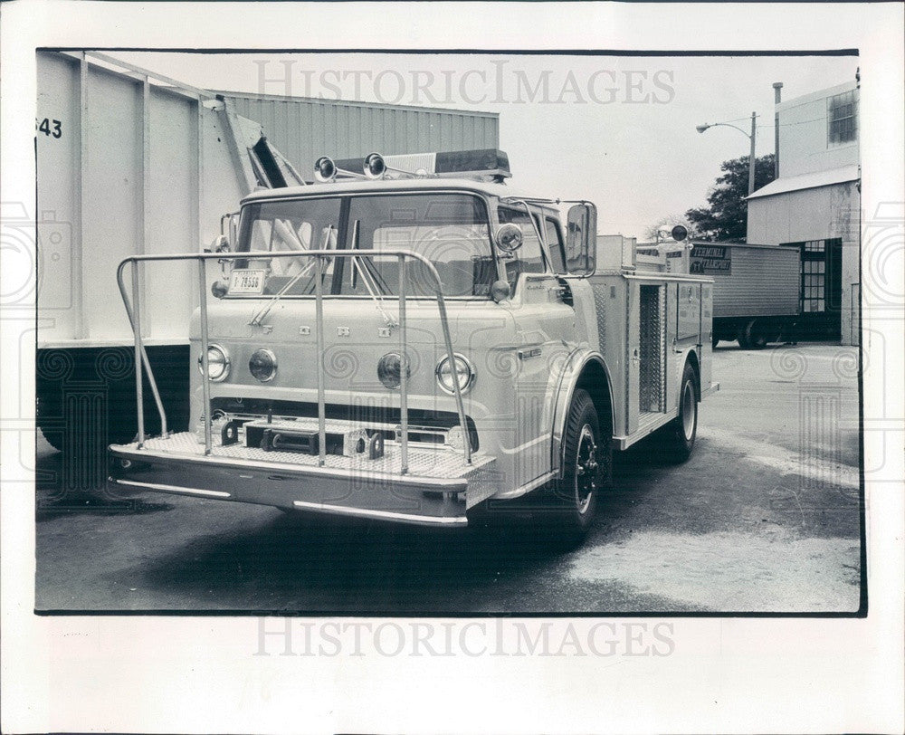 1978 St Petersburg, Florida Compact Fire Engine Pumper Press Photo - Historic Images
