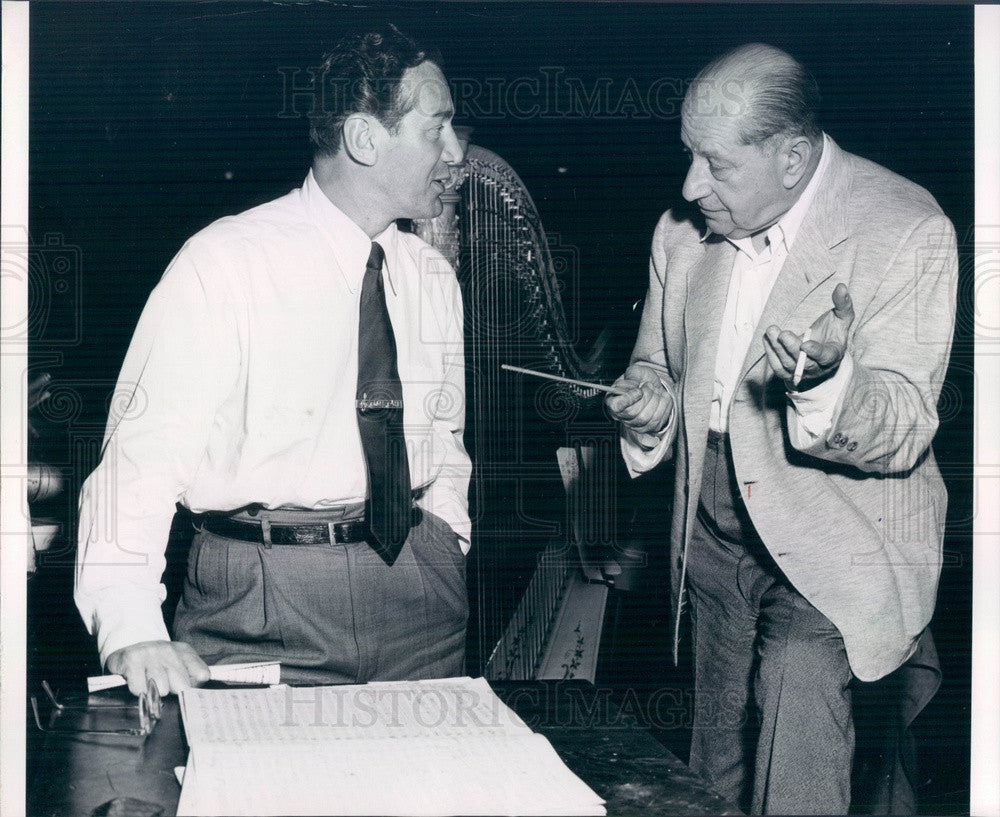 Undated Broadway, Operetta Composer Sigmund Romberg & Gene Marvey Press Photo - Historic Images