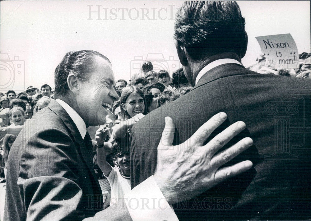 1970 US President Richard Nixon & Colorado Governor John Love Press Photo - Historic Images
