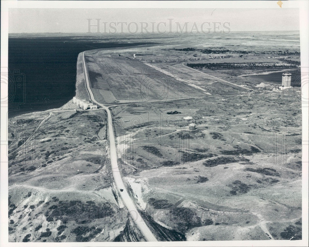 1983 Glasgow, Montana Fort Peck Dam Aerial View Press Photo - Historic Images