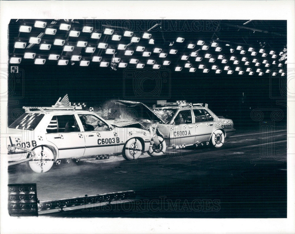 1984 Milford, Michigan General Motors Chevy Cavalier Crash Test Press Photo - Historic Images