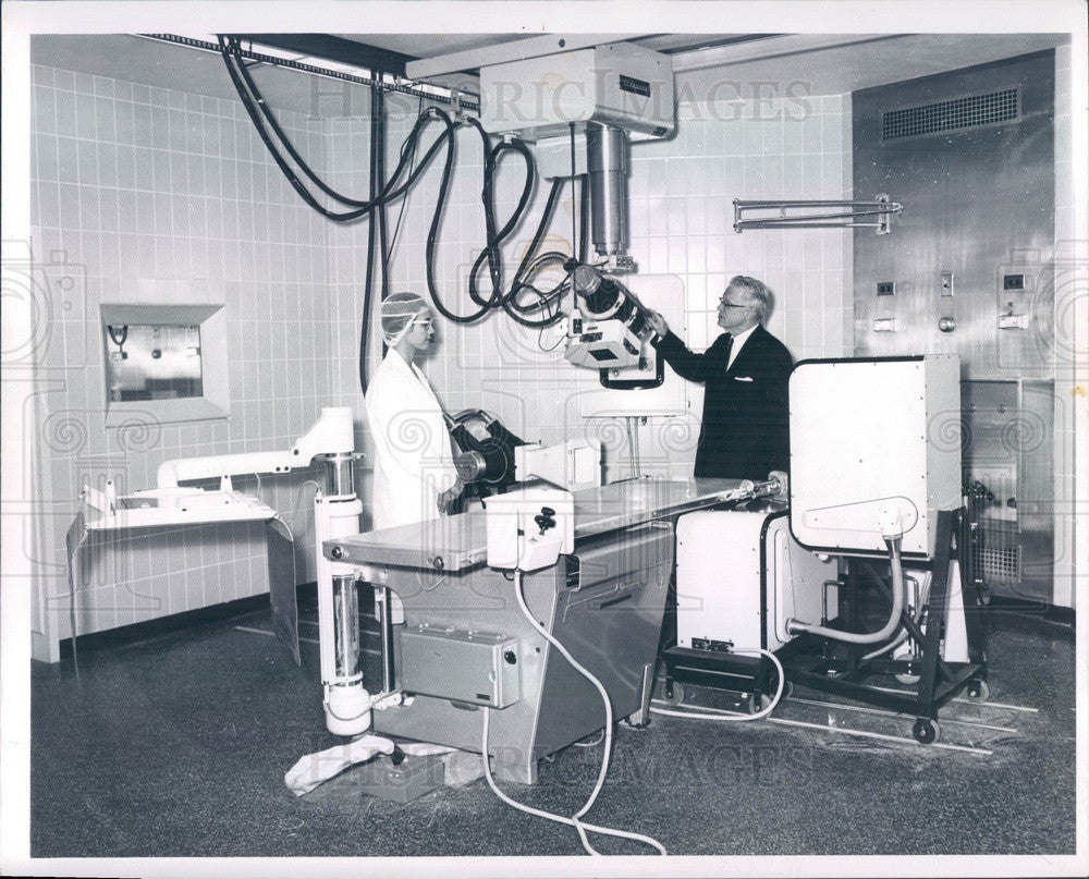 1962 Detroit, MI Wayne County General Hosp Angiocardiographic Unit Press Photo - Historic Images