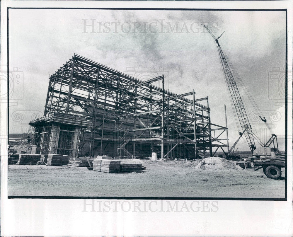 1981 St Petersburg, Florida Garbage Plant Construction Press Photo - Historic Images