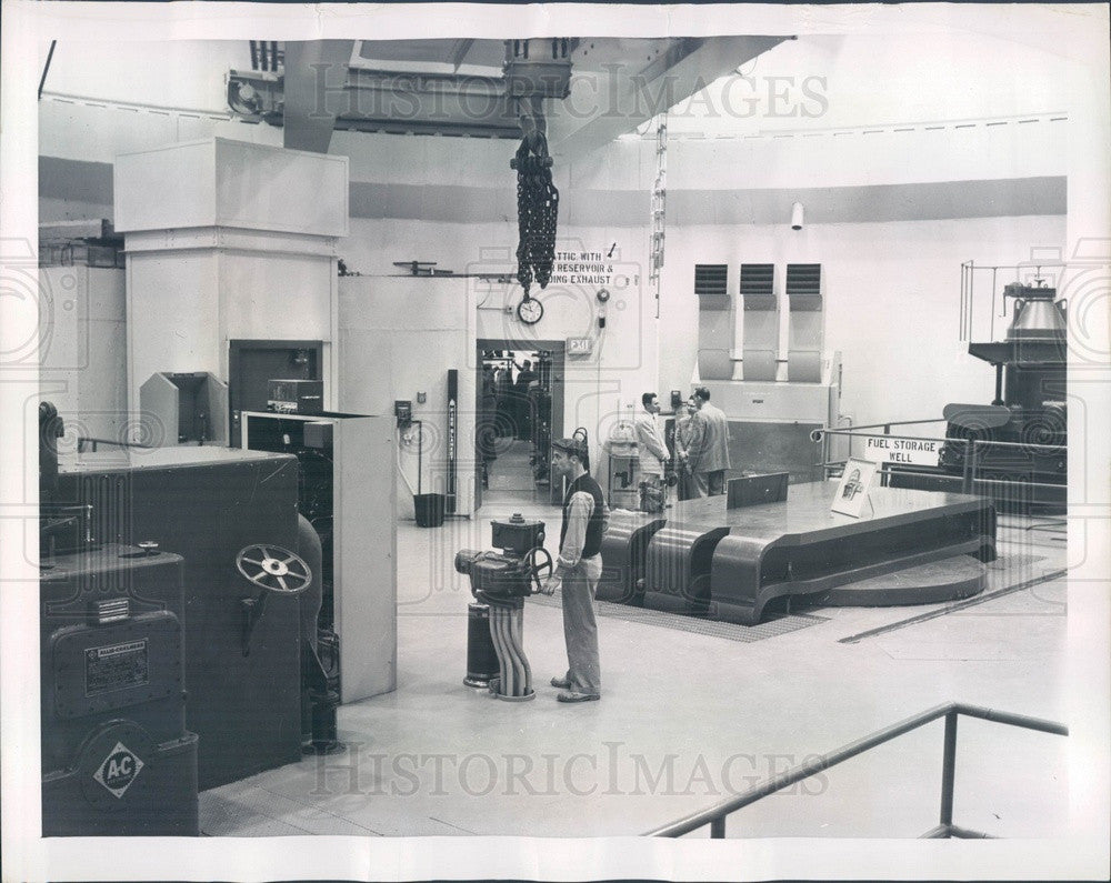 1957 Chicago, IL Argonne National Laboratory Nuclear Power Plant Press Photo - Historic Images