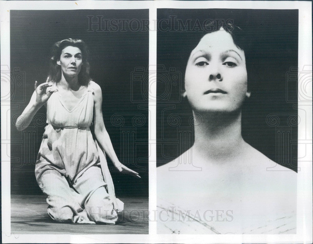 1977 Tony Winning Actress Marian Seldes & Dancer Isadora Duncan Press Photo - Historic Images
