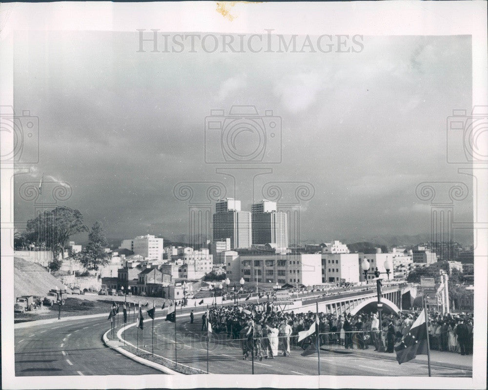 1954 Caracas, Venezuela Republic Viaduct Opening Press Photo - Historic Images