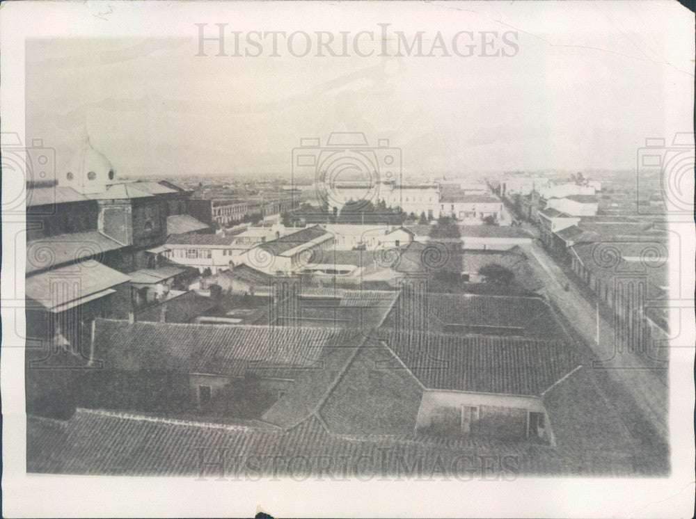 1928 Talca, Chile Aerial View Press Photo - Historic Images