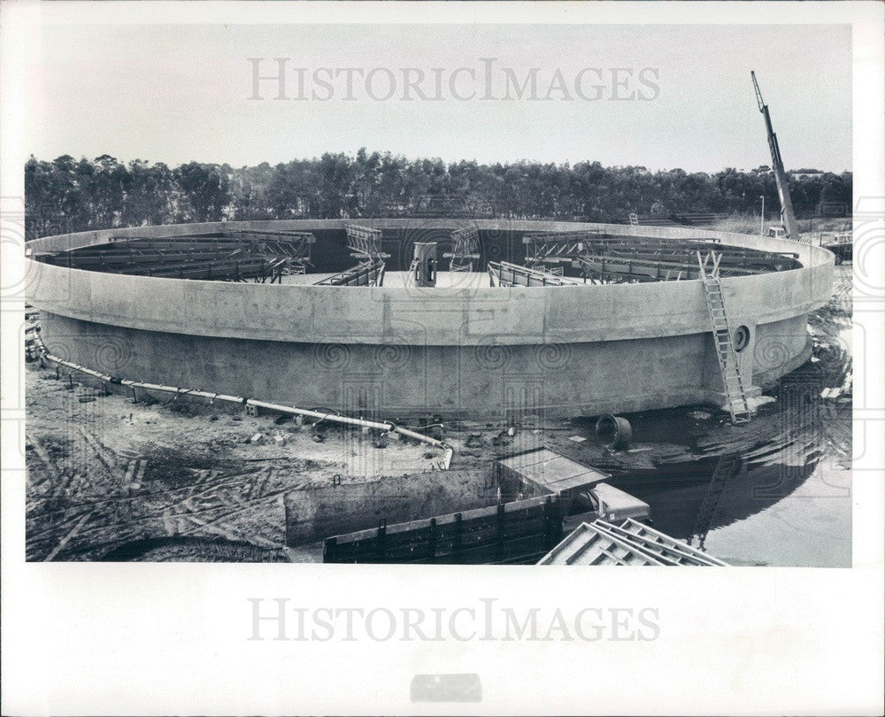 1976 St Petersburg, Florida Southwest Wastewater Treatment Plant Press Photo - Historic Images