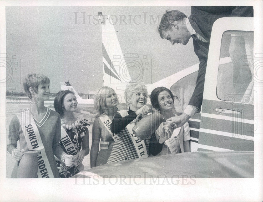 1969 St Petersburg-Clearwater, FL Airport Welcome Station Opening Press Photo - Historic Images