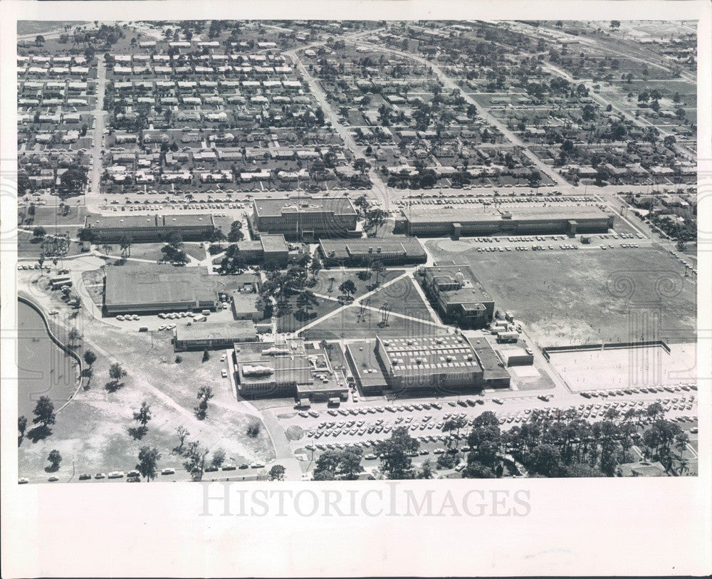 1965 St Petersburg, Florida Jr College Aerial View Press Photo - Historic Images