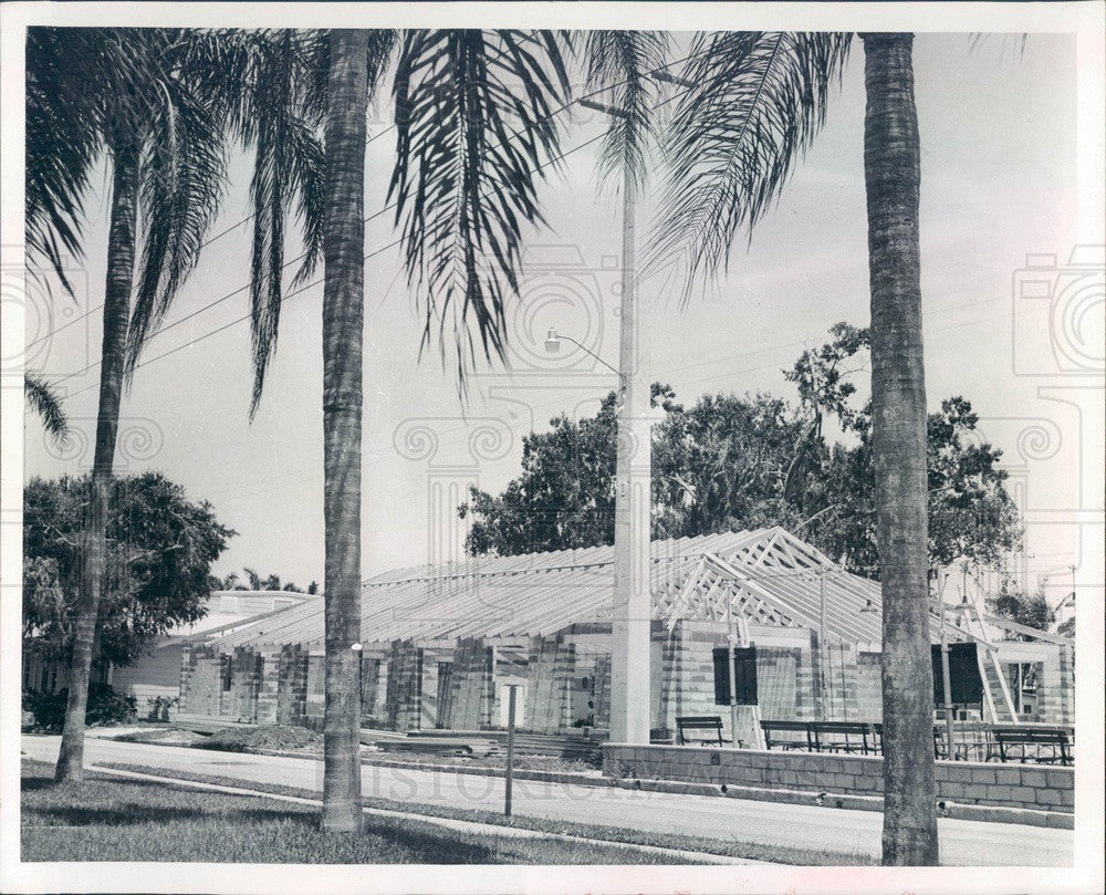1966 Bradenton, FL Recreation Center Shuffleboard Club Clubhouse Press Photo - Historic Images