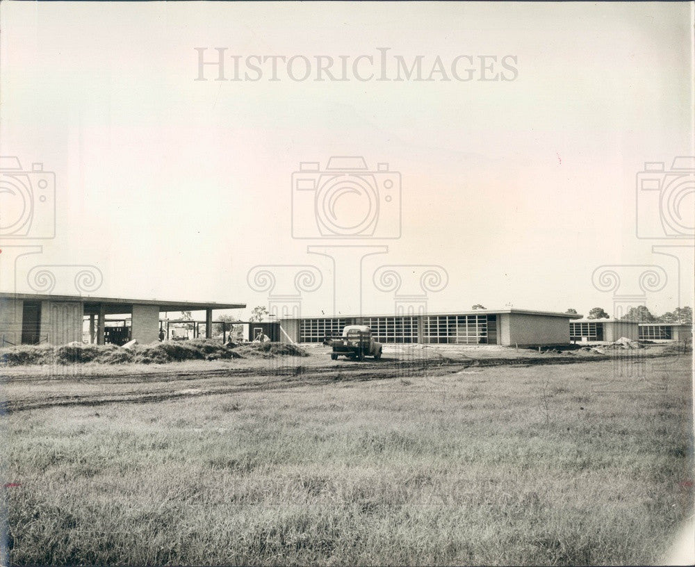1959 Manatee County, Florida Southeast Jr High School Construction Press Photo - Historic Images