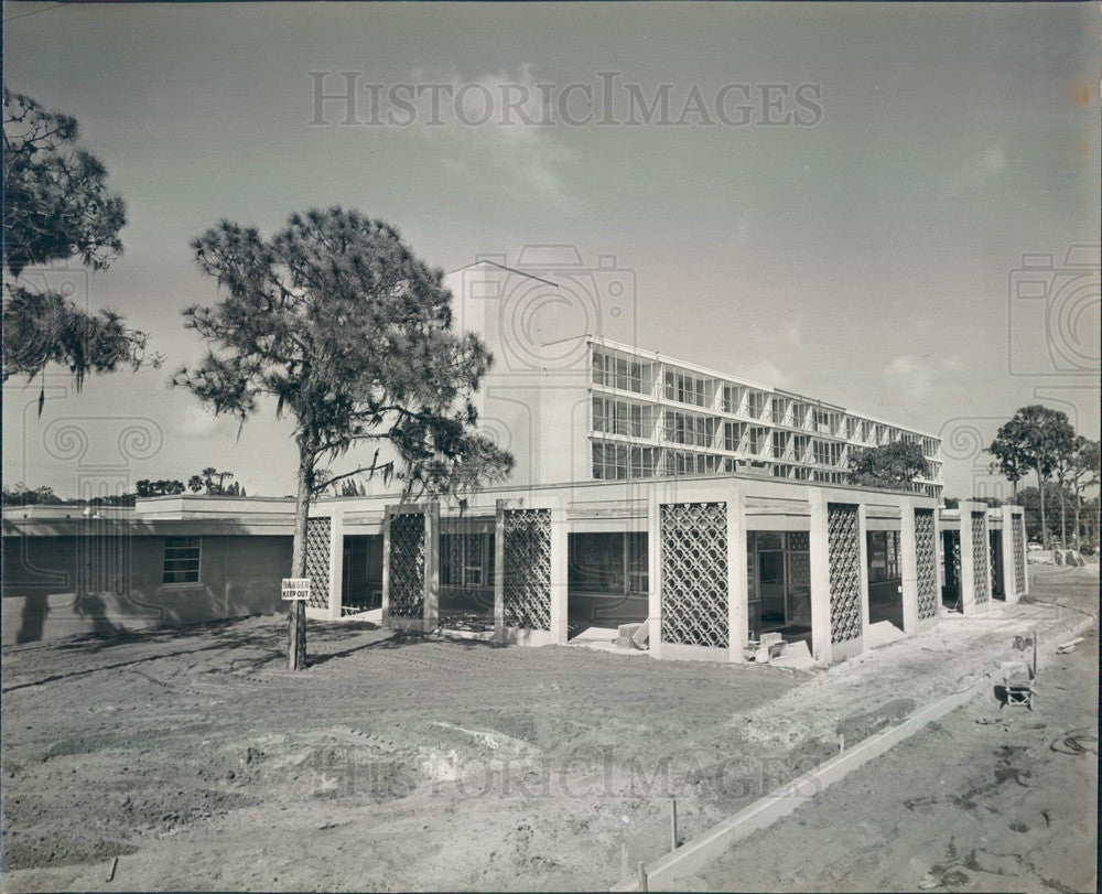 1961 Bradenton, Florida Presbyterian Retirement Home Construction Press Photo - Historic Images