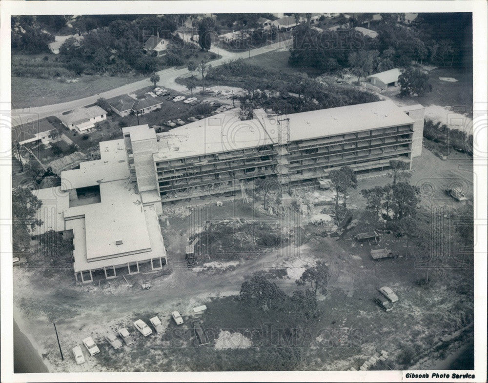 1960 Bradenton, Florida Presbyterian Retirement Home Construction Press Photo - Historic Images