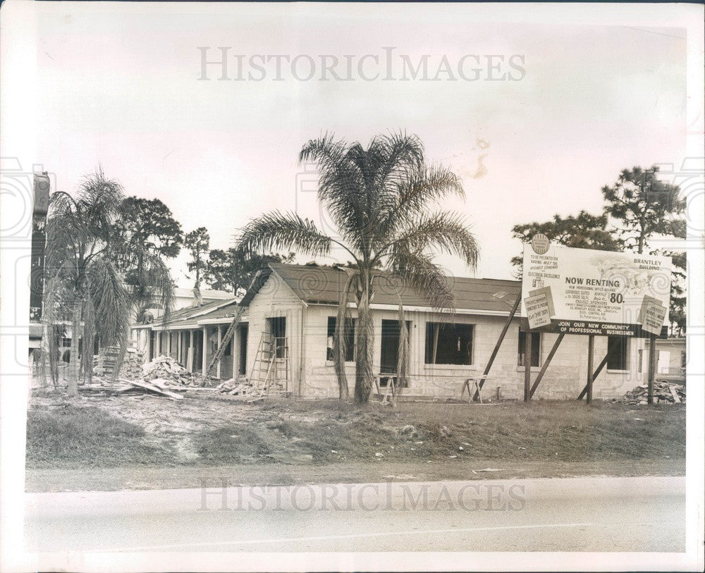 1965 St Petersburg, Florida Brantley Building Construction, 34th St Press Photo - Historic Images