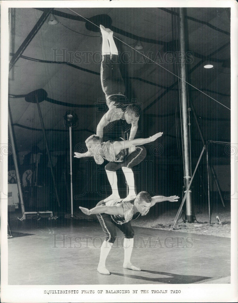 1965 Florida State University Student Circus, The Trojan Trio Press Photo - Historic Images