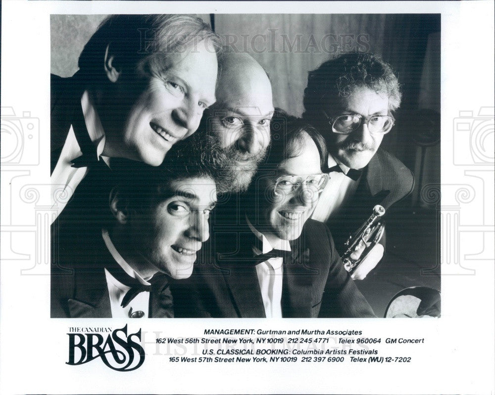 1989 Music Group The Canadian Brass Press Photo - Historic Images