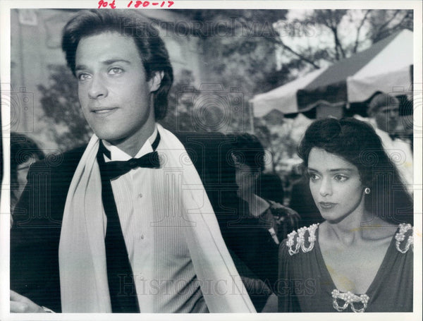 1983 American Actors John James & Kathleen Beller TV Show Dynasty Press Photo - Historic Images