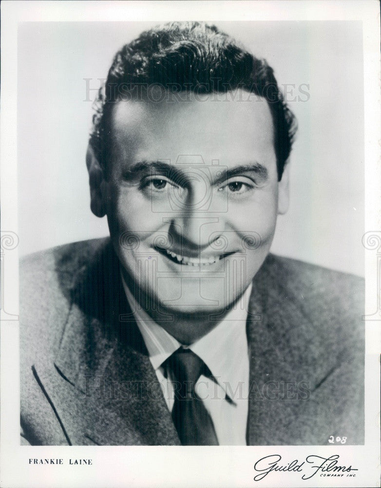 1954 American Singer/Songwriter/Actor Frankie Laine Press Photo - Historic Images