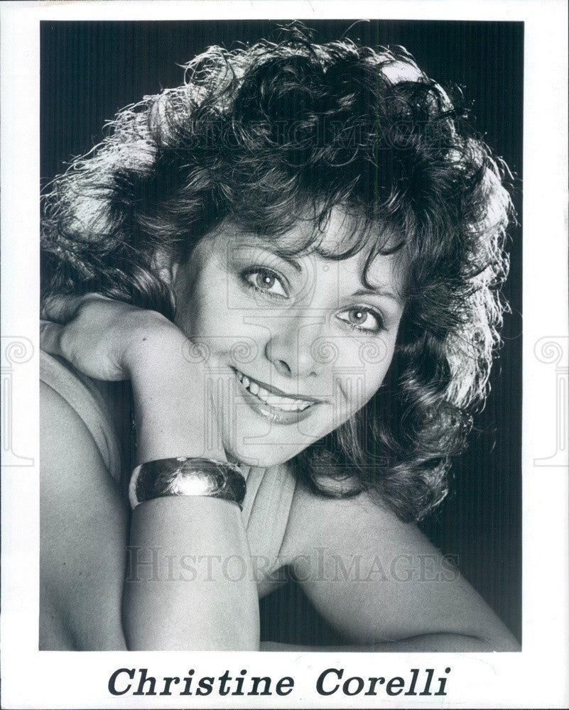 Undated Singer Christine Corelli Press Photo - Historic Images