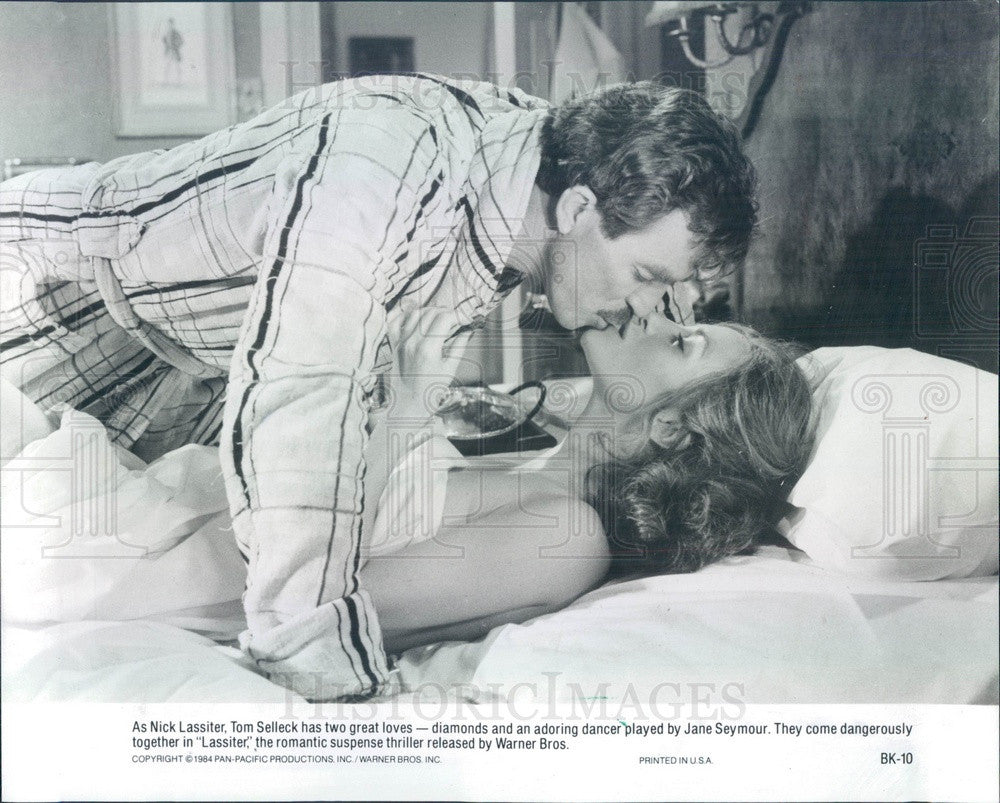 1984 Hollywood Actors Tom Selleck & Jane Seymour Press Photo - Historic Images