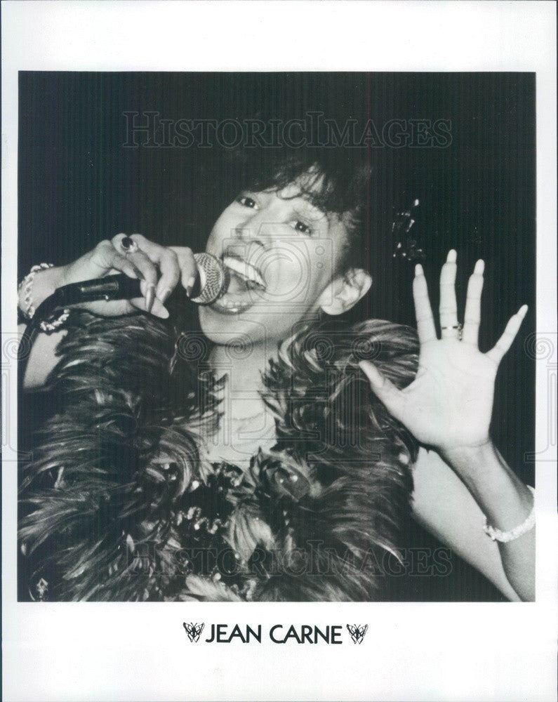 1985 American Jazz/Pop Singer Jean Carne Press Photo - Historic Images
