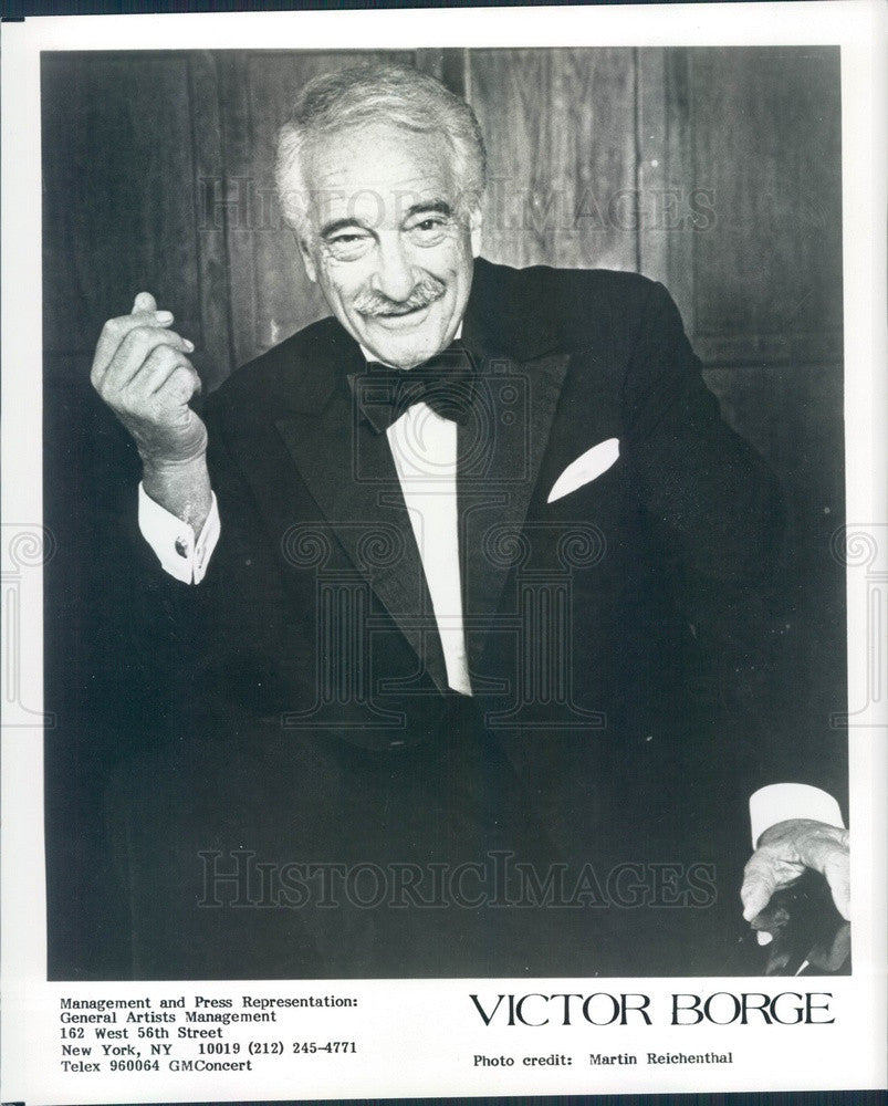 1989 Danish/American Comedian/Musician Victor Borge Press Photo - Historic Images