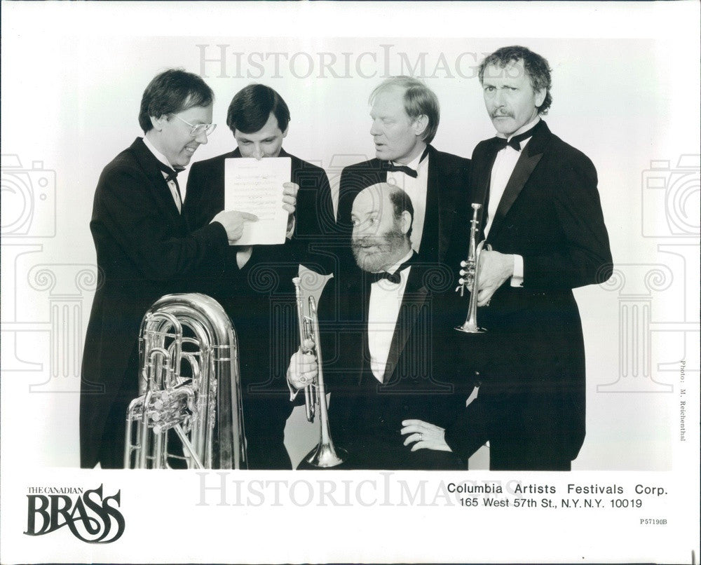 1984 Musical Quintet The Canadian Brass Press Photo - Historic Images