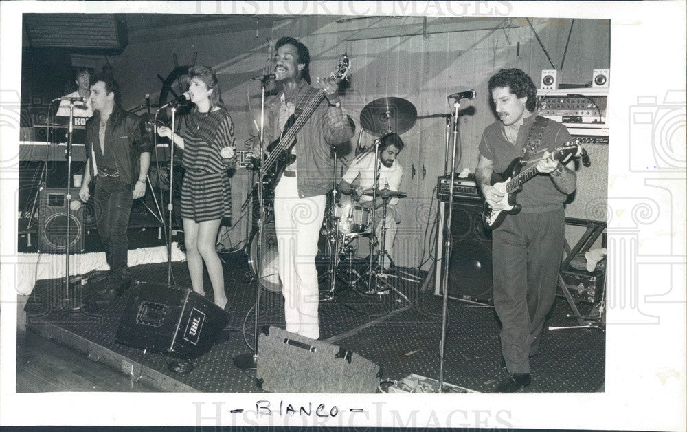 1983 Music Group Blanco Press Photo - Historic Images