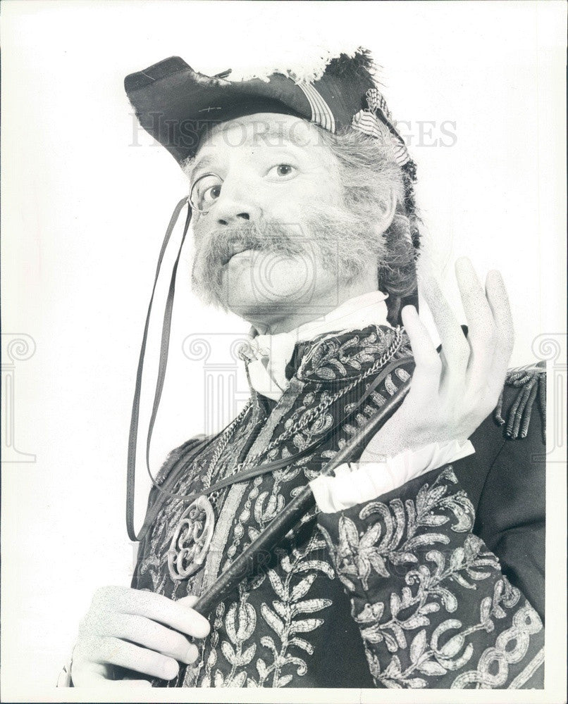 1981 Actor John Meredith in A Gilbert and Sullivan Evening Press Photo - Historic Images