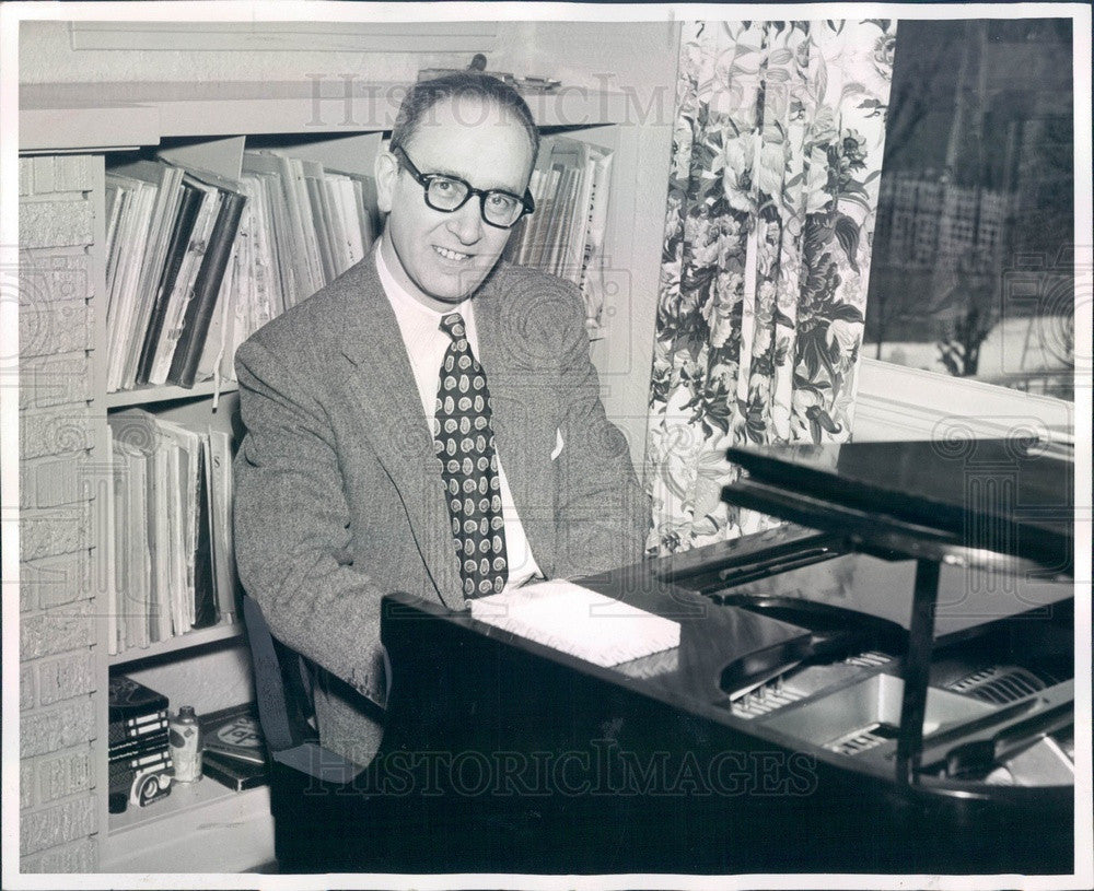 1955 Pianist/Musician Max Lanner Press Photo - Historic Images