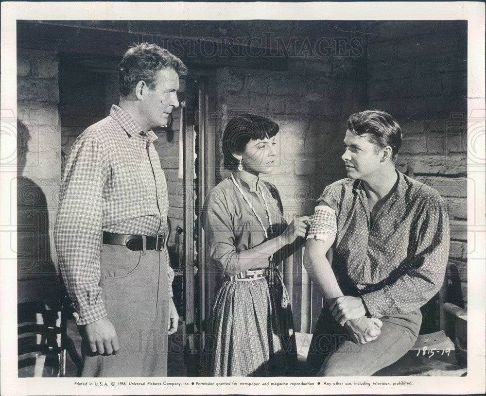 1956 Hollywood Actors Charles Drake/Audie Murphy/Anne Bancroft Press Photo - Historic Images