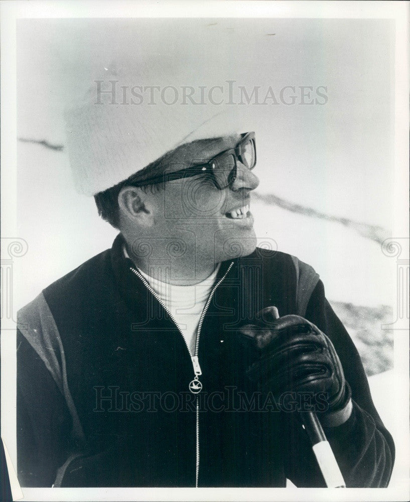 1968 Swiss Alpine Skier, 1960 Olympic Gold Medalist Roger Staub Press Photo - Historic Images