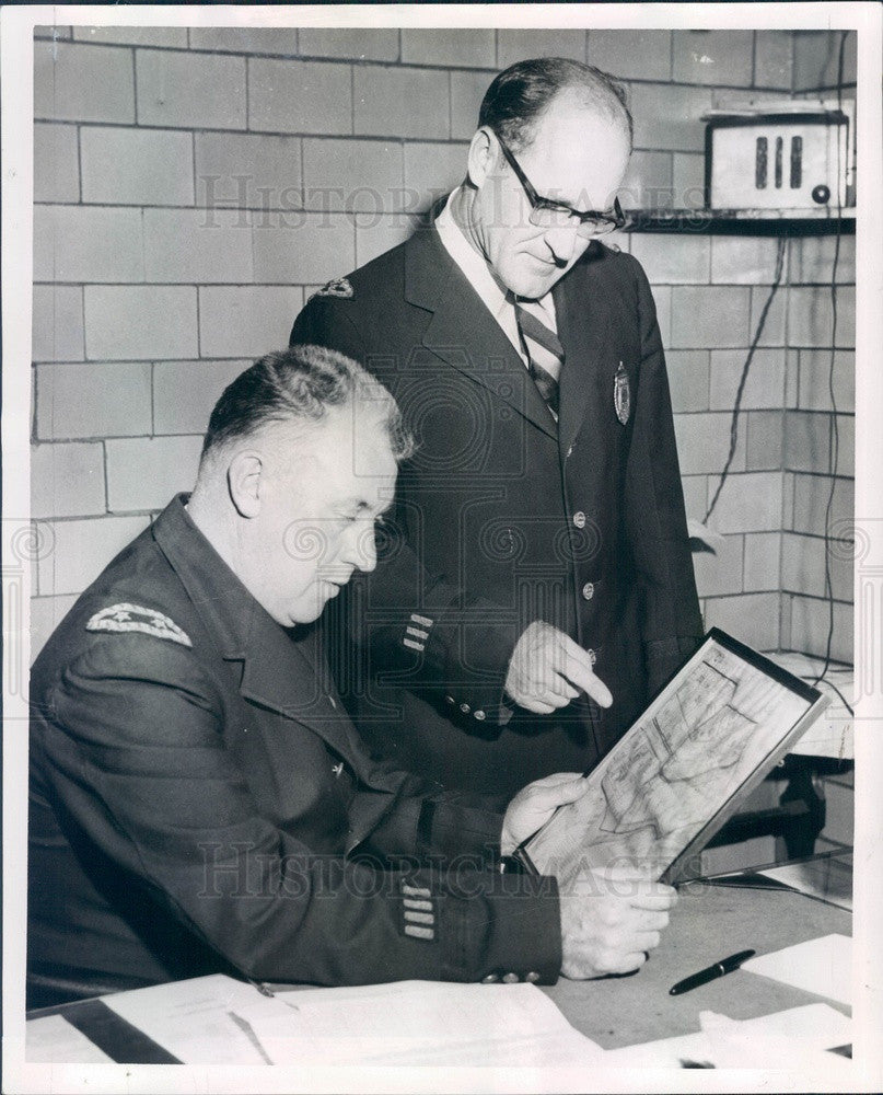 1957 Boston, MA Police Station 4 CO Capt Edward Mannix Press Photo - Historic Images