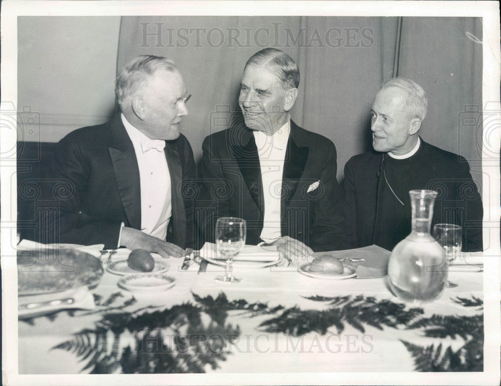 1936 US Secretary of War George Dean, AFL President William Green Press Photo - Historic Images