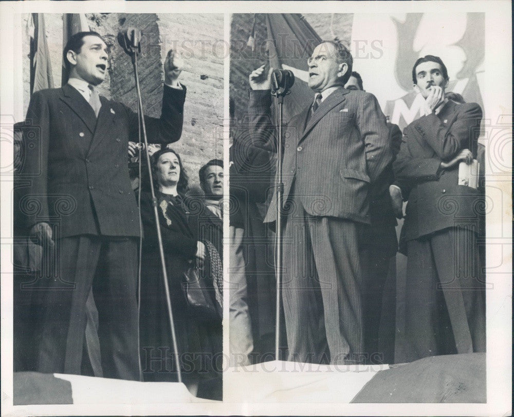 1948 Rome, Italy Political Candidates Mino di Toto Press Photo - Historic Images