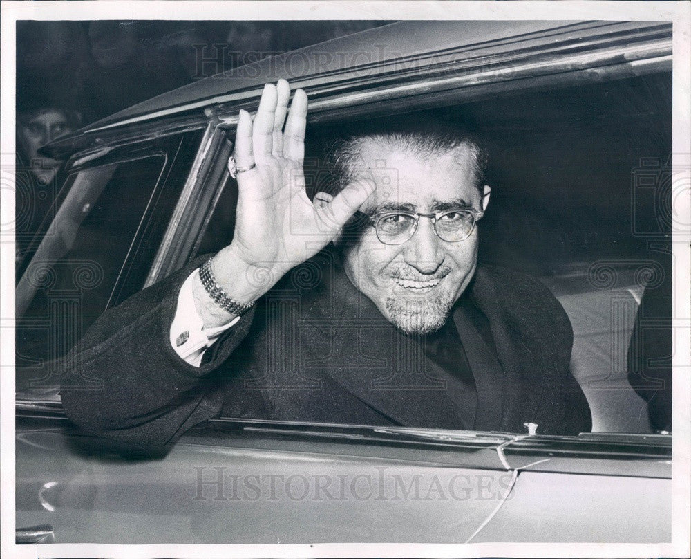 1959 Armenian Archbishop Sion Manoogian of New York in Boston Press Photo - Historic Images