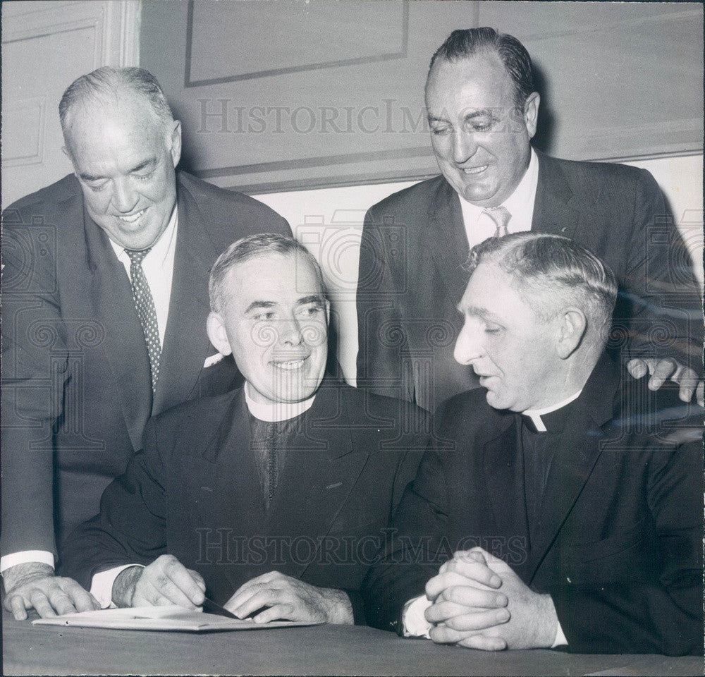 1957 Boston, MA Columban Fathers Missions Dir Rev Owen McGrath Press Photo - Historic Images