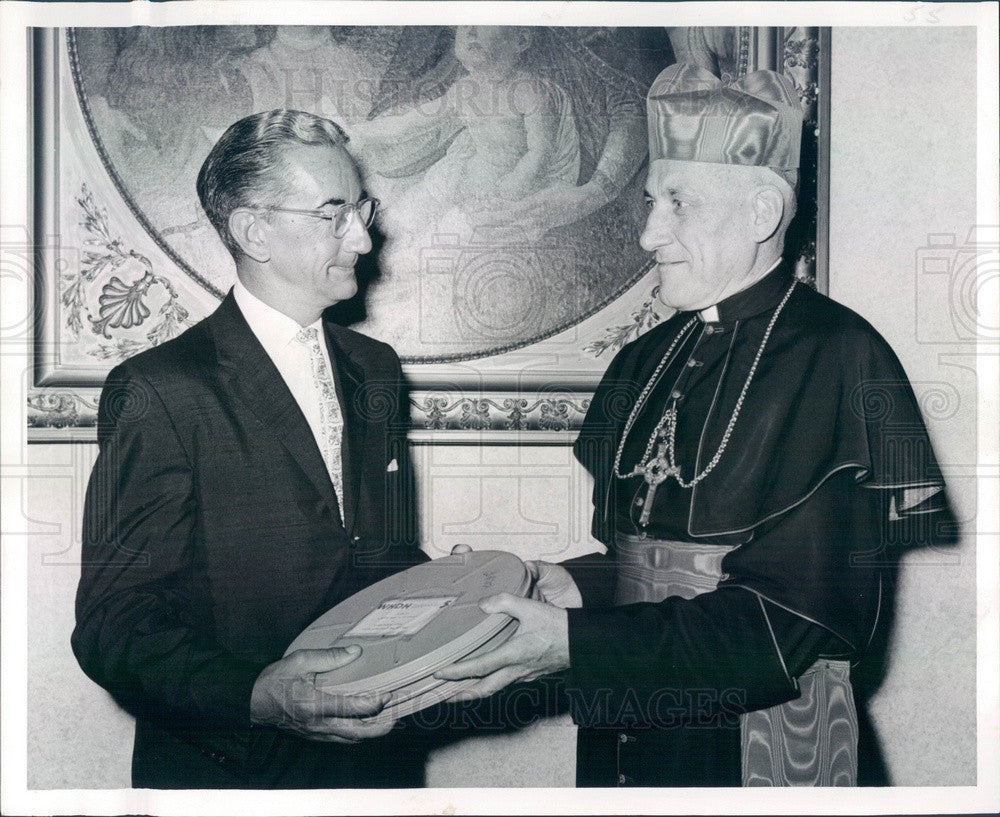 1959 Boston, MA Archbishop Richard Cardinal Cushing, William McGrath Press Photo - Historic Images