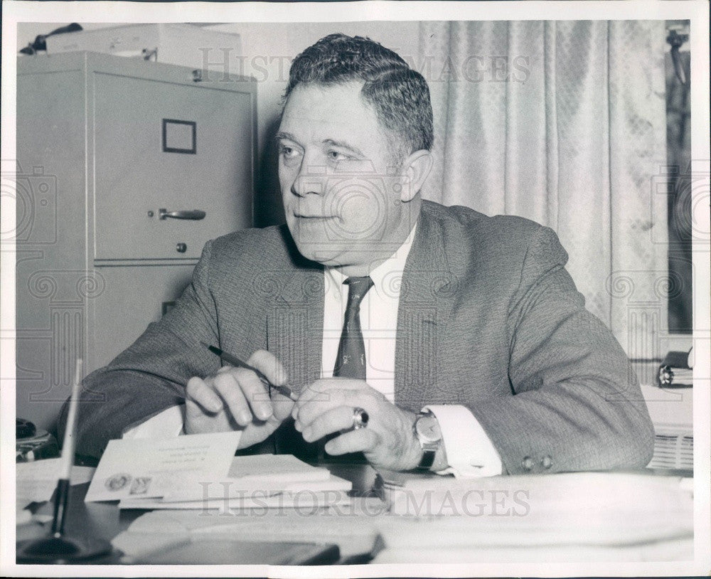 Undated Massachusetts Corrections Commissioner George McGrath Press Photo - Historic Images