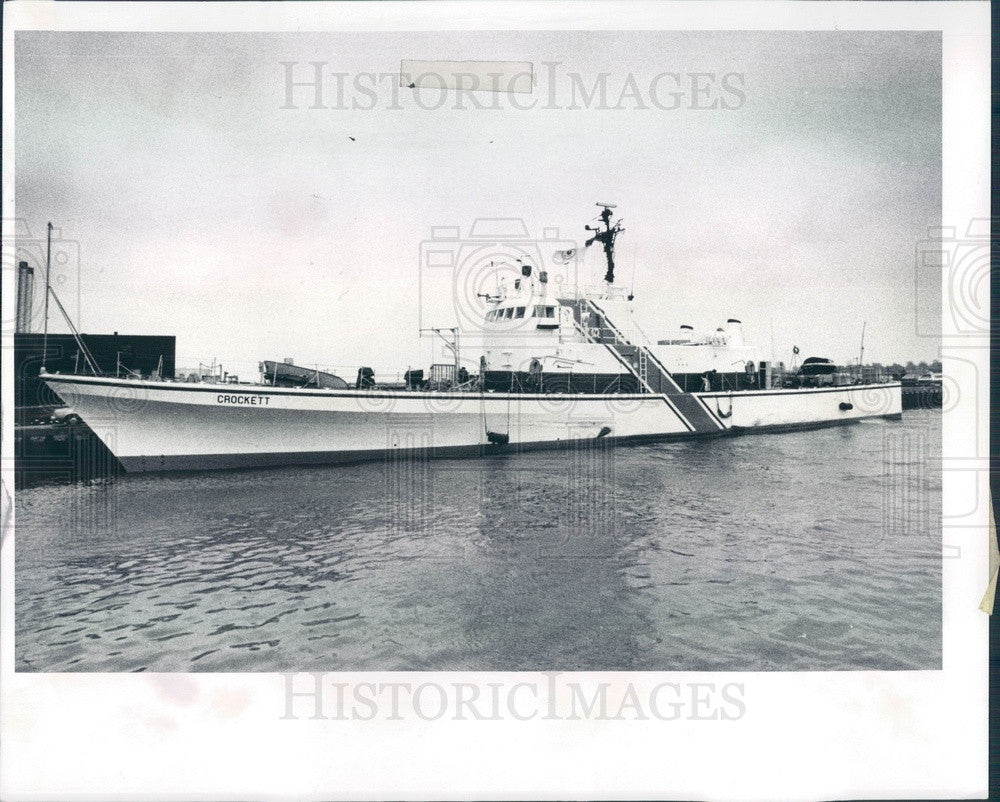1978 US Environmental Protection Agency Gunboat Crockett Press Photo - Historic Images