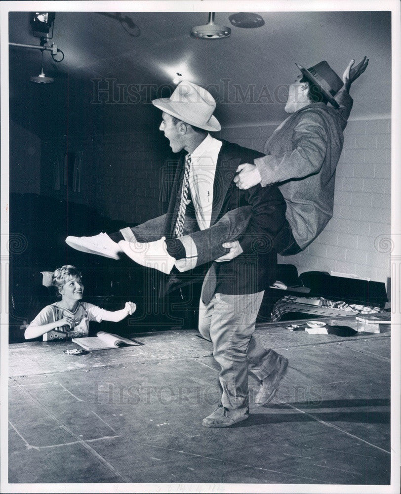 1962 Detroit, Michigan Theater Director Nancy Engel, John Viciclt Press Photo - Historic Images