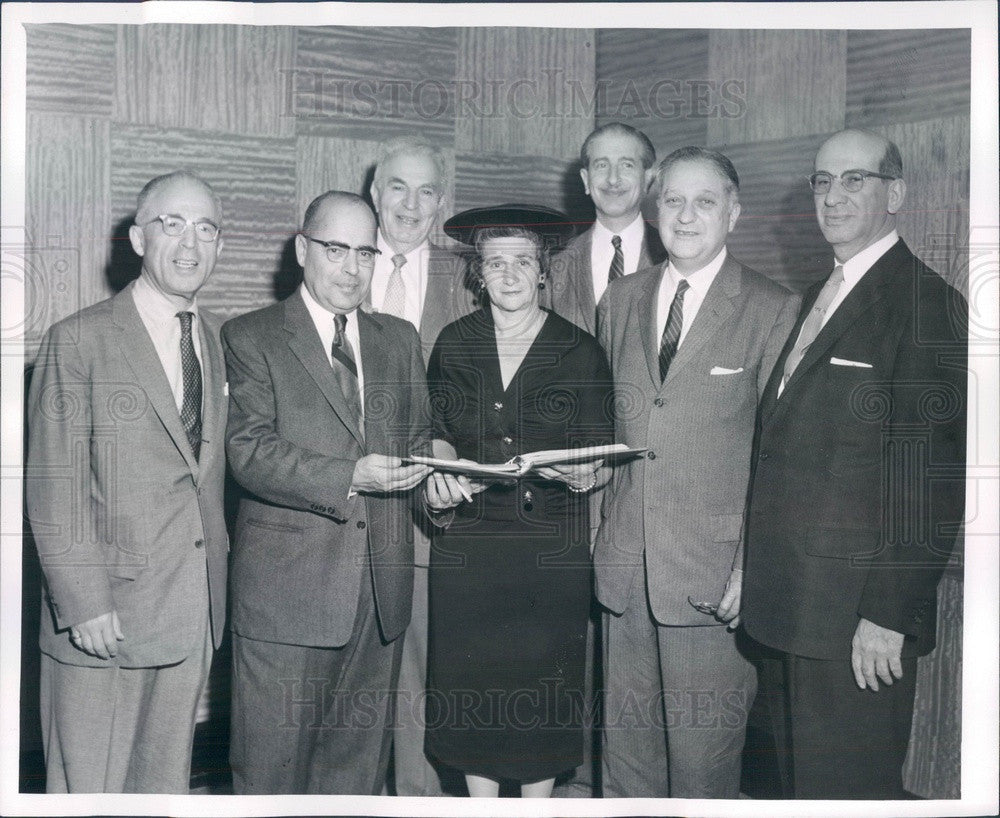 1957 Boston, MA Jewish Hospital President David Stern, Frank Kozel Press Photo - Historic Images