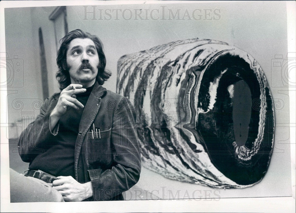 1971 Detroit, Michigan Artist John Egner Press Photo - Historic Images