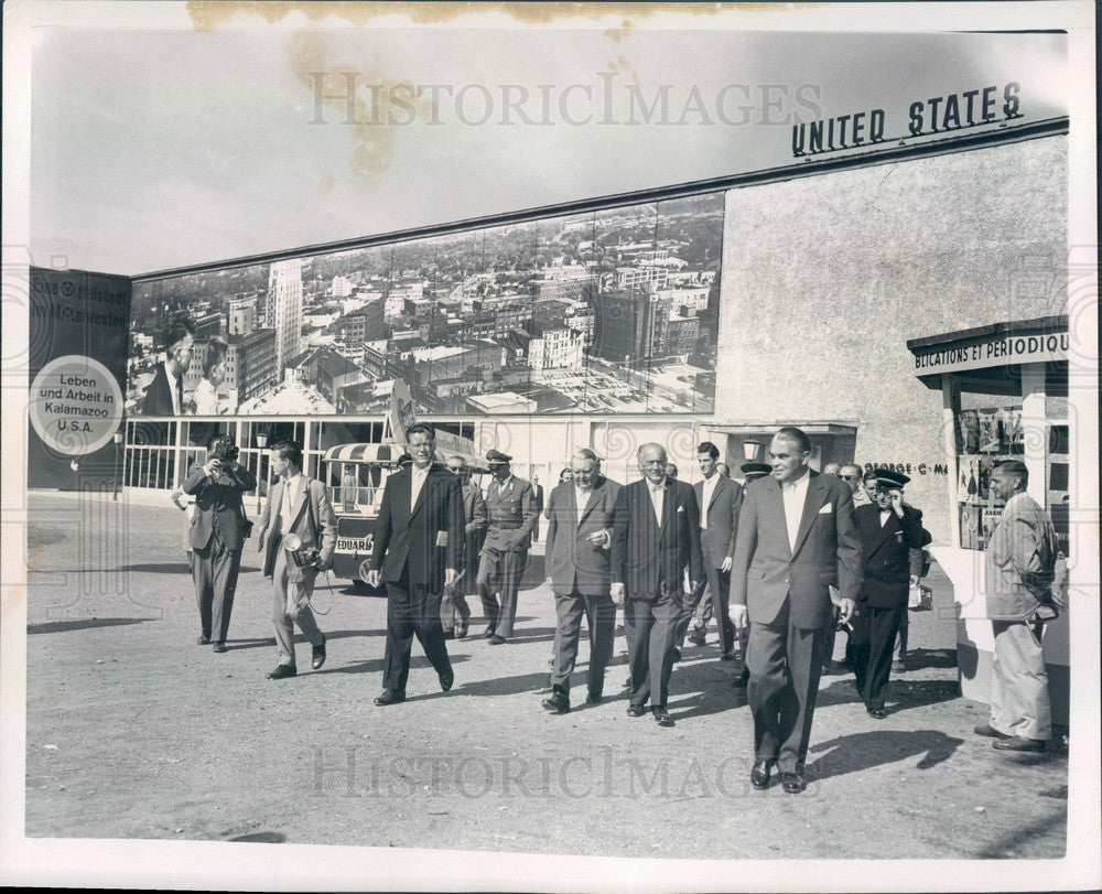 1958 Berlin, Germany Industrial Fair, American Pavilion Press Photo - Historic Images