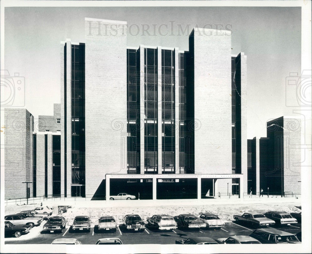 1973 Chicago, IL Masonic Medical Center, Clement Stone Pavilion Press Photo - Historic Images