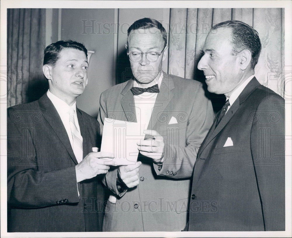 1959 Boston, MA Jewish Vocational Service President Solomon Stern Press Photo - Historic Images